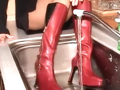Wet and Messy Boots Scene 18