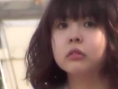 Japanese college girl gets caught masturbating in public