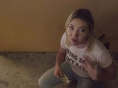 Horny Zelda Morrison gets fucked in an alleyway for cash